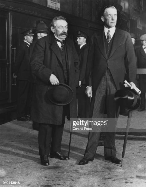 French statesman Aristide Briand and British Foreign Secretary Austen Chamberlain August 1925