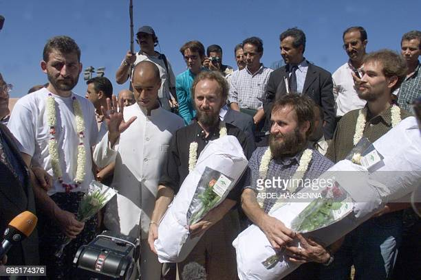 French Stephane Loisy Seif alIslam the son of Libyan leader Moammer Kadhafi and head of the Kadhafi Charitable Foundation Finns Seppo Fraenti and...