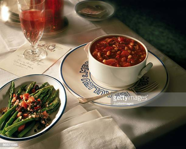 French stew and asparagus