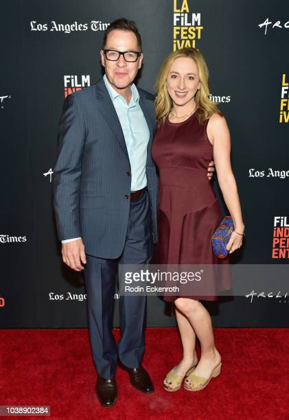 French Stewart and Vanessa Claire Stewart attend the screening of 'The Great Buster' during the 2018 LA Film Festival at ArcLight Culver City on...