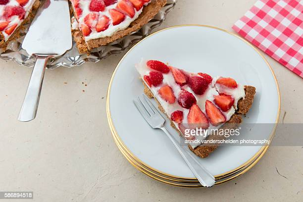 French strawberry cake.