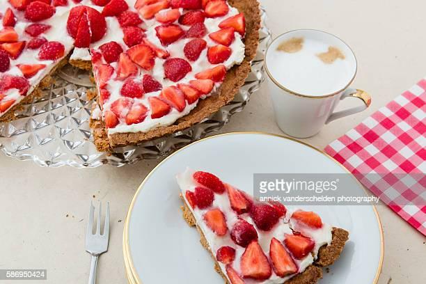 French strawberry cake.