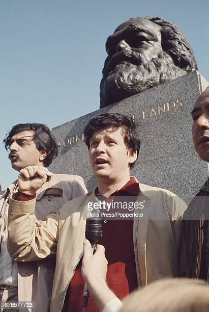 French student leader and spokesperson for the May '68 student protesters Daniel CohnBendit pictured centre with British activist Tariq Ali in front...
