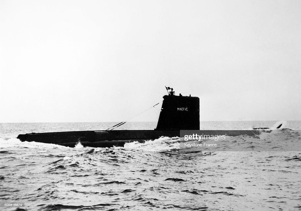 French submarine Minerve... : News Photo