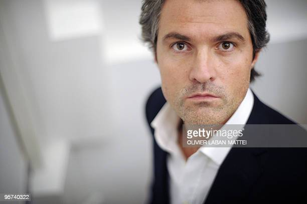 French surgeon Stephane Delajoux dubbed the surgeon to the stars poses on January 8 2010 at his lawyer's office in Paris Delajoux who performed the...