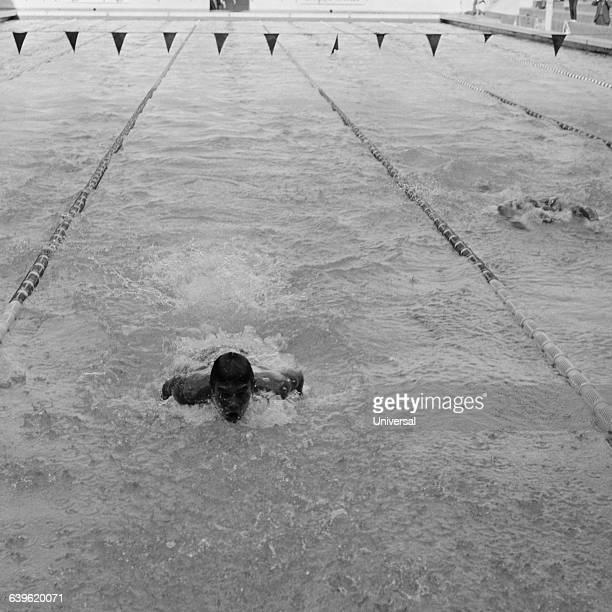 French swimmer Alain Mosconi