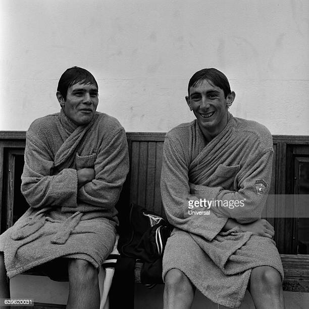 French swimmers Alain Mosconi and Michel Rousseau