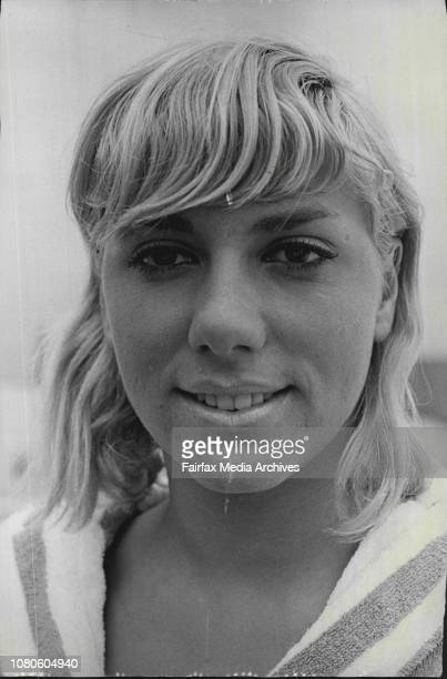French Swimmer's at Auburn pool Christine Caron March 01 1967