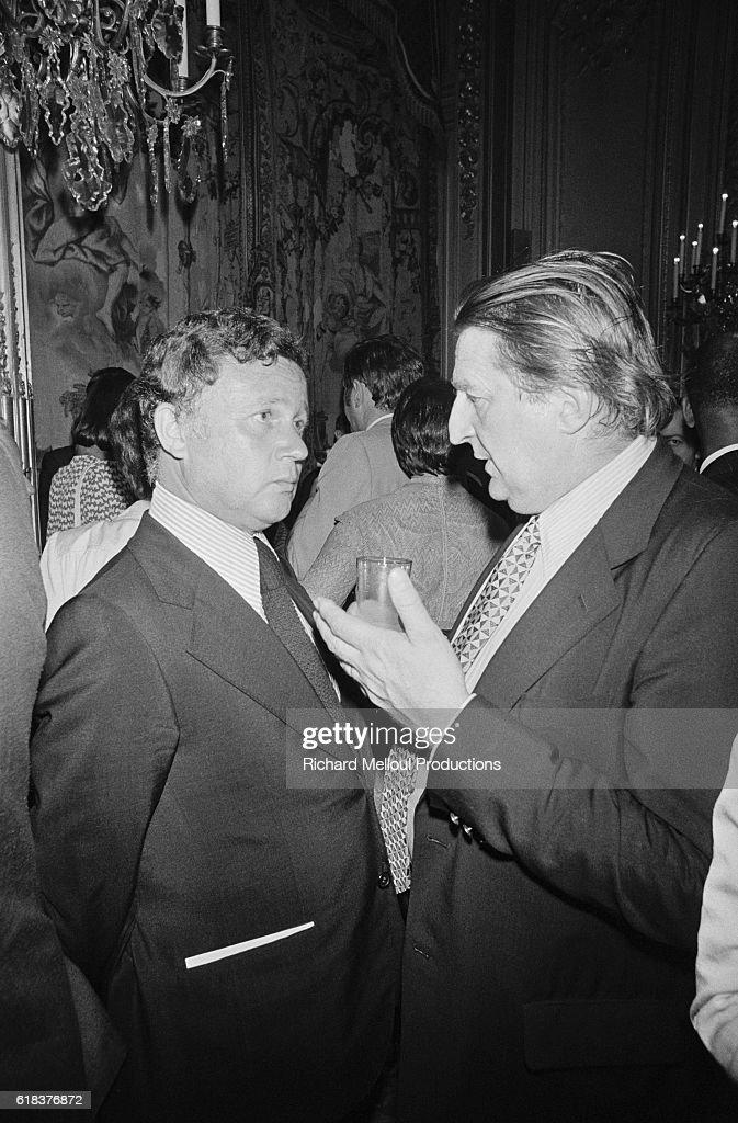 Philippe Bouvard and Marcel Jullian : Photo d'actualité