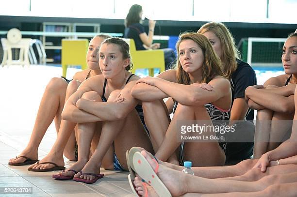 French team during the Training Session for the Olympics Games 2016 in Rio at INSEP on April 12 2016 in Vincennes France