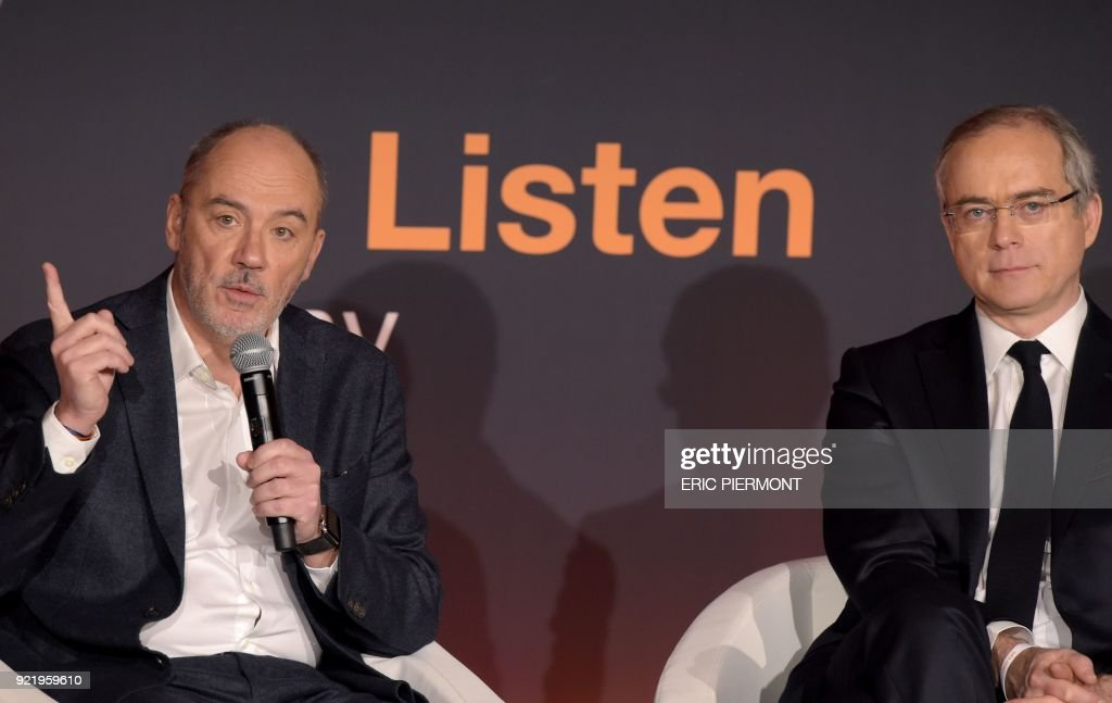 FRANCE-ECONOMY-TELECOM-ORANGE-RESULTS : News Photo
