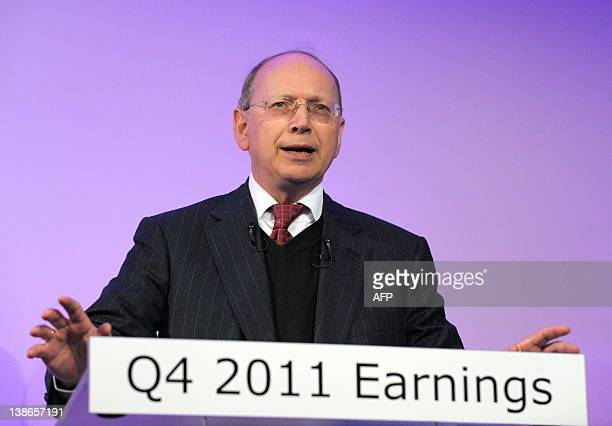 French telecommunications equipment maker Alcatel-Lucent chief executive Ben Verwaayen talks during a press conference at Alactel-Lucent headquarters...