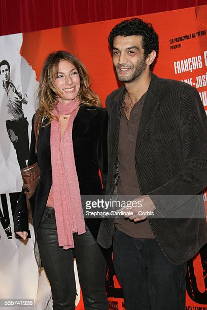 French television actress and host Anne de Petrini with French actor and director Ramzy Bedia at the 'Ne le dis a personne' movie premiere