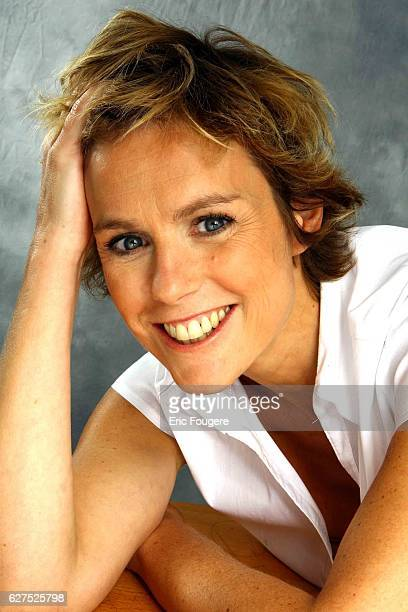 French television actress Anne Richard on TV Set.