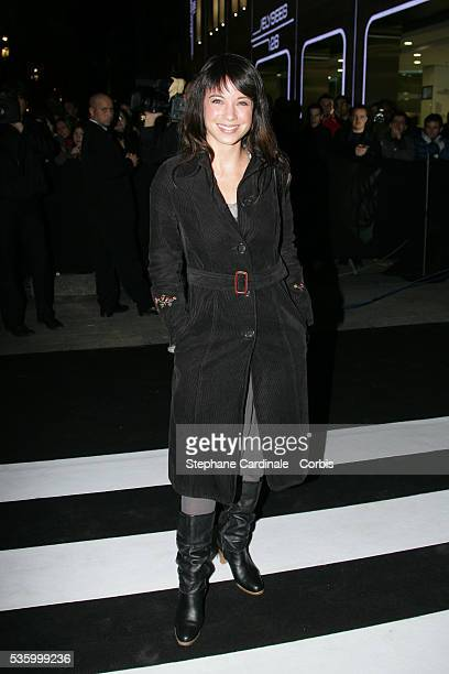 French television host AnneGaelle Riccio attends the opening of Adidas store on the ChampsElysees