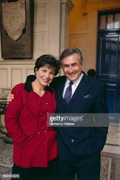 French television journalist Anne Sinclair and politician Dominique StraussKahn are married at the 16th District Town Hall in Paris StraussKahn...