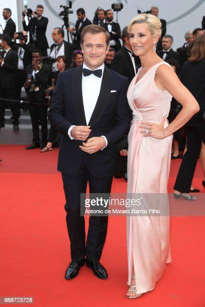 French television journalist Laurence Ferrari and her companion French violinist Renaud Capucon attend the 'L'Amant Double 'screening during the 70th...