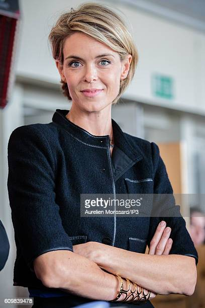 French Television Presenter and Food Critic Julie Andrieu attends the launch of the 7th edition of the initiative 'Tous au restaurant' that lasts...