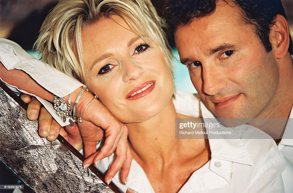 French TV Presenter Couple Sophie Davant and Pierre Sled : Photo d'actualité