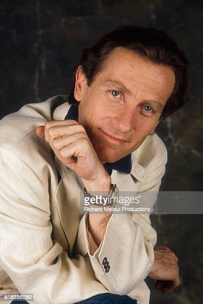 French television presenter William Leymergie poses in Paris He hosts the morning TV program Telematin presenting current events interviews sports...