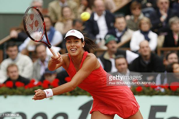 French Tennis Open Final At Roland Garros In Paris France On June 07 2008 Serbian player Ana Ivanovic