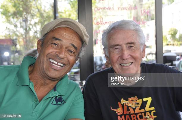 French tennis player and captain Yannick Noah with photographer and musician Andre Crudo. September 18, 2020.