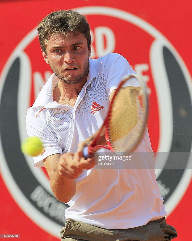 French tennis player Gilles Simon return : News Photo