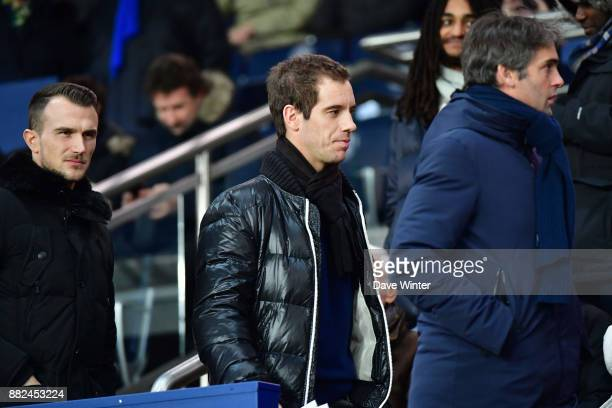 French tennis player Richard Gasquet during the Ligue 1 match between Paris Saint Germain and Troyes Estac at Parc des Princes on November 29 2017 in...