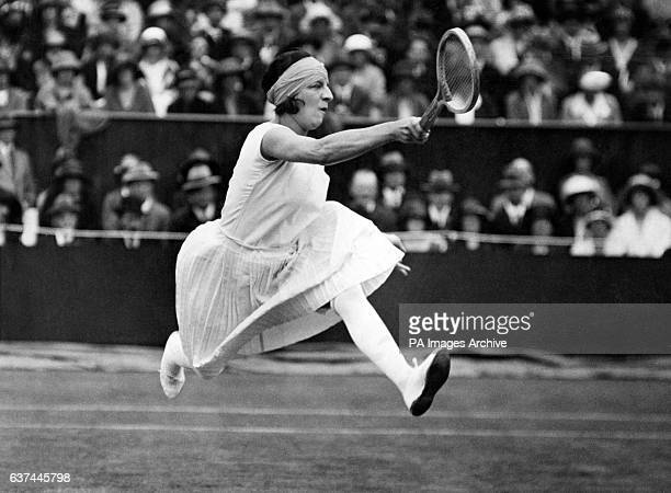 French tennis player Suzanne Lenglen in action. She would go on to win the final.