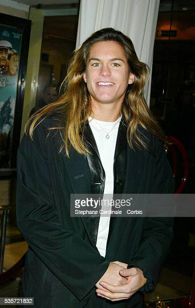 French tennis star Amelie Mauresmo attends the premiere of 'Une Vie à T'Attendre'