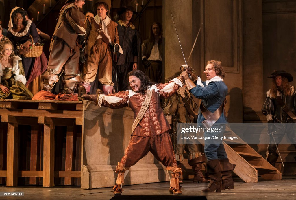 French tenor Roberto Alagna and various cast members perform at the