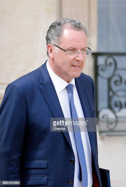 French Territorial cohesion Minister Richard Ferrand leaves the Elysee Presidential Palace after a weekly cabinet meeting on May 31 2017 in Paris...