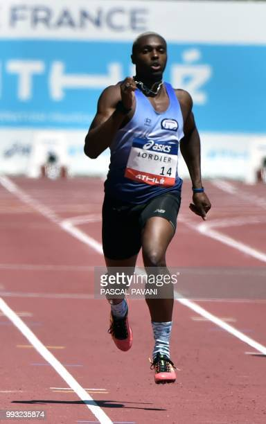 French Thomas Jordier competes in the men's 400 meters during the Alhletics French Championships Elite in Albi southwestern France on July 7 2018