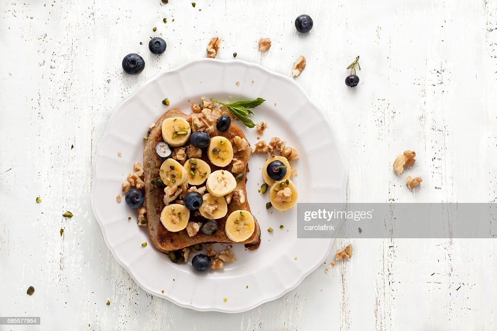 French Toast with Bananas : Stock-Foto