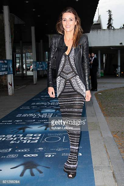 French top model Fanny Anselme attends Opening Ceremony of 10th Liege Thriller Film Festival on April 14 2016 in Liege Belgium
