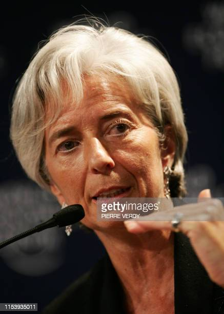 French Trade Minister Christine Lagarde talks during the session Ensuring Future European Growth at the World Economic Forum in Davos 25 January 2007...