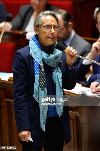 French Transports Minister Elisabeth Borne answers deputies questions during the weekly session of questions to the government at Assemblee Nationale...