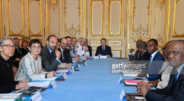 French Transports Minister Elisabeth Borne French Overseas Minister Annick Girardin French Prime Minister Edouard Philippe French Minister for...