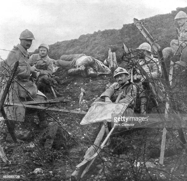 French troops after the capture of Souchez PasdeCalais France 28 October 1915