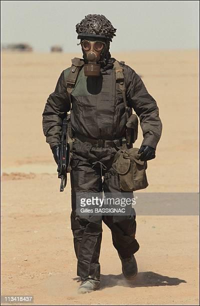 French Troops Hafar Al Batin On October 1St 1990 In Saudi Arabia Legionnaire With Nbc Equipement