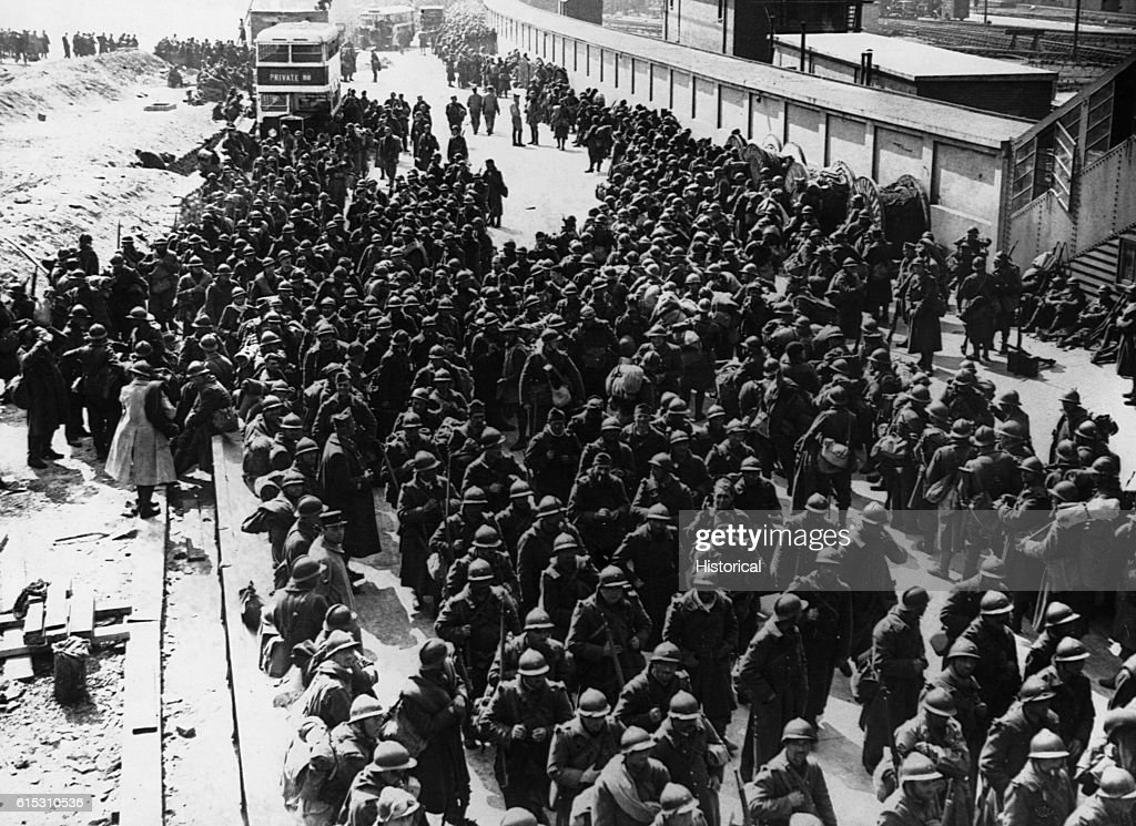 Thousands of French troops were plucked off of Dunkirk's beaches along with the British. June, 1940.
