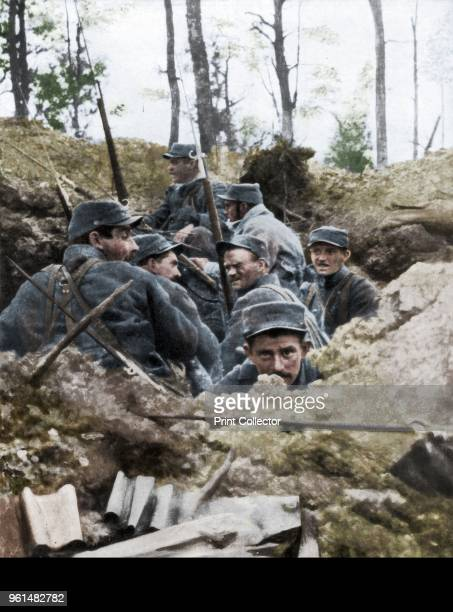 French troops in the trench system of Calonne France July 1915 Artist Unknown