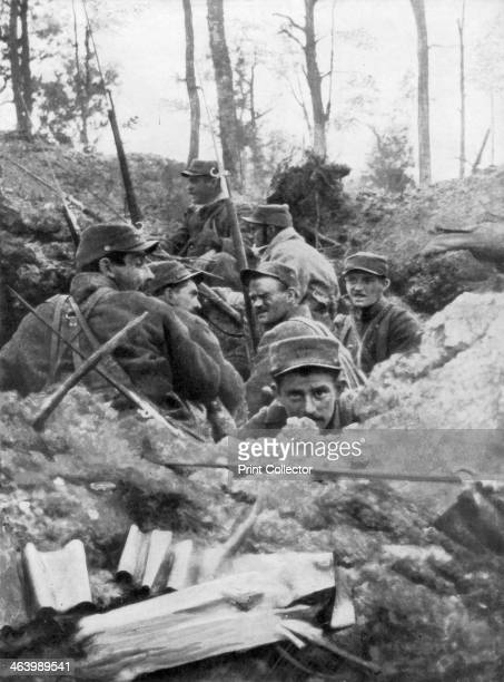 French troops in the trench system of Calonne France July 1915