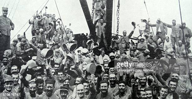 French Troops on the way to the Battle of Gallipoli