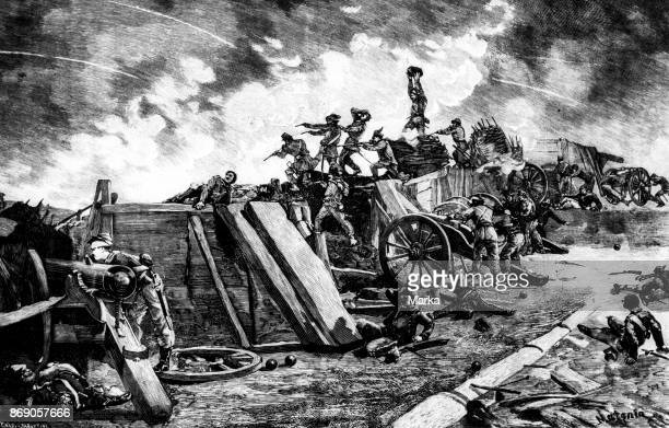 French Troops Siege of Rome 1849