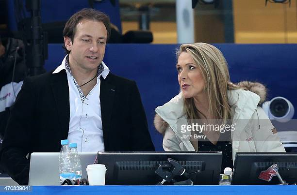 French TV analysts Philippe Candeloro and Annick Dumont comment the Figure Skating Ladies' Free Skating on day 13 of the Sochi 2014 Winter Olympics...