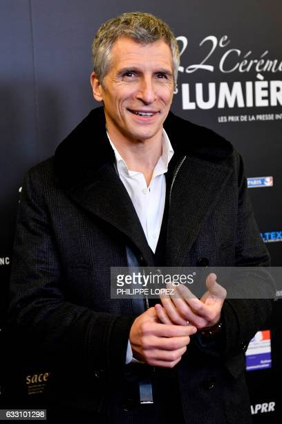 French tv and radio host Nagui poses during a photocall upon arriving to attend the 22nd Lumieres Awards ceremony at the Theatre de la Madeleine in...