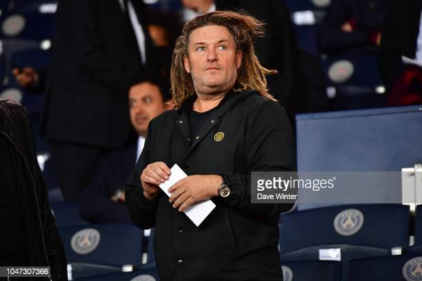 French tv and radio presenter Olivier Delacroix during the Ligue 1 match between Paris Saint Germain and Lyon at Parc des Princes on October 7 2018...