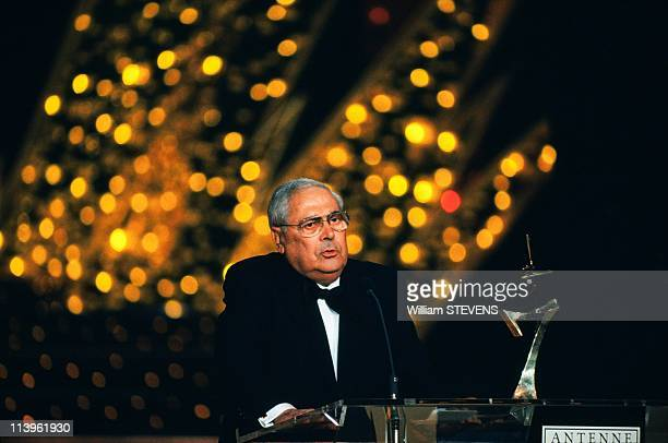 French TV Awards Ceremony at Lido in Paris France on November 26 1991French television producer Armand Jammot at '7 d'or' the french TV Awards...