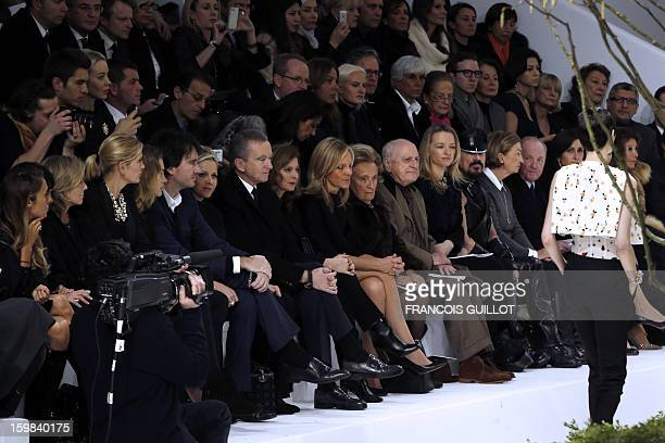 French tv host Claire Chazal a guest Russian model Natalia Vodianova French businessman Antoine Arnault Charlene Princess of Monaco French...